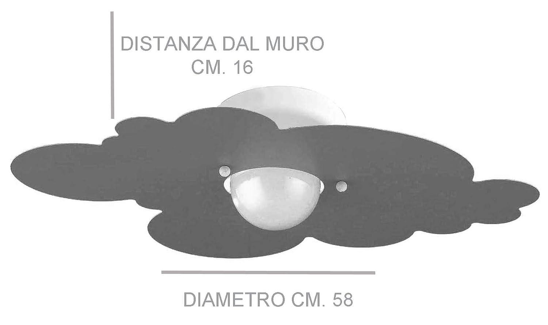 Plafoniera per Camerette Stanzette Bambini Modello Nuvola Bianca