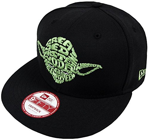New Cap Era Hat (New Era Star Wars Word Yoda Snapback Hat (Black))