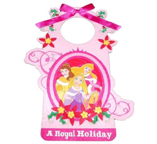 (Disney Princess Belle Aurora and Rapunzel Christmas Felt Door Hanger Decoration)