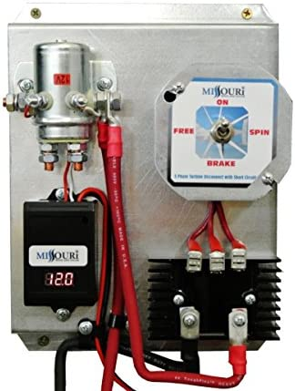 12 Volt Basic Three Phase Wind and Solar Charge Controller with LED Display