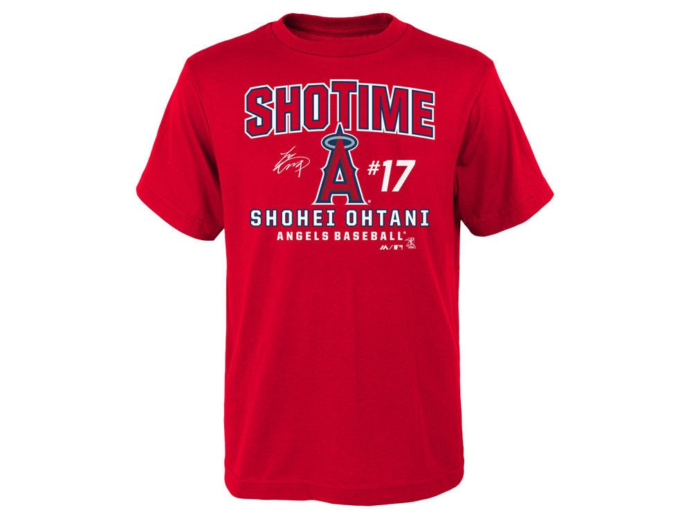 finest selection 6705c cc20e Outerstuff Shohei Ohtani Los Angeles Angels Youth Showtime Takedown T-Shirt