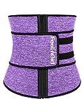 FeelinGirl Neoprene Sauna Sweat Waist Trainer for Women Weight Loss with Adjustable Waist Shaper Belt 4XL
