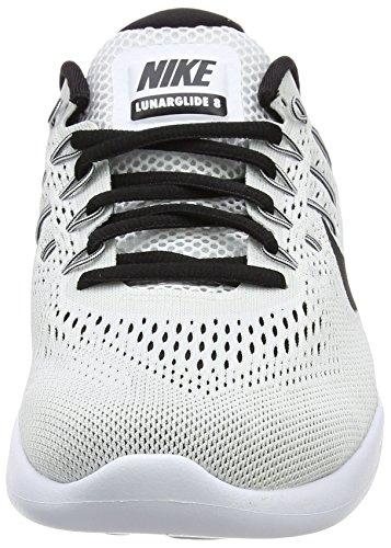 Nike Lunarglide 8, Scarpe da Corsa Uomo Multicolore (White/Black)