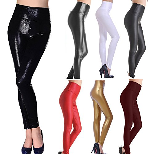 SlickBlue SEXY Womens Girls Faux Leather High Waisted Leggings 51IsA 2Bq99lL