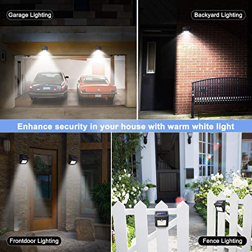 28 Outdoor, Luposwiten Sensor Wireless Lights, 400 Solar Steps Garage Patio(4-Pack)