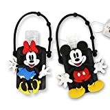 DISNEY Portable Hand Sanitizer with Holder (Mickey & Minnie, 2)