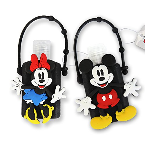 Adorable Disney Hand Sanitizer with Classic Mickey and Minnie Mouse Holder (1oz) (1, Mickey and Minnie Mouse (Pair))