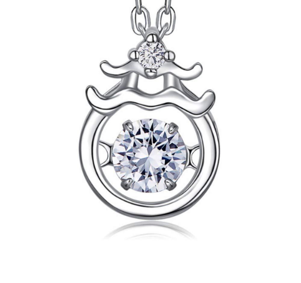 QWERST女性ネックレススターリングシルバー星座人格ペンダントファッションエレガントな絶妙なネックレス最高の贈り物   B07MM43HM9