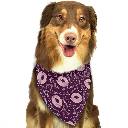 Joyful Lip Traces and Words Pattern Fashion Dog Bandanas Bibs Scarf Pet Dog Cat Dog Scarf -