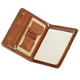 Piel Leather Three-Way Envelope Padfolio, Saddle, One Size