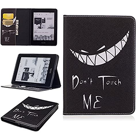 Kindle Voyage Slim Folding Case, Beimu Ultra Slim Lightweight Standing PU Leather Magnetic Case Cover for Amazon Kindle Voyage (Waterproof Kindle Voyage Case)
