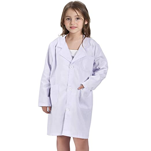ab2c0e433e8 Amazon.com: CalorMixs America Kids Unisex Doctor Lab Coat & Childrens Doctor  Scrub Set Role Play Costume Dress-Up for Christmas Halloween: Clothing