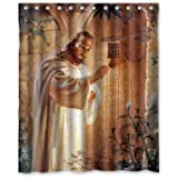 Jesus Knocking On Your Door Religious Shower Curtain 60x72 Inch