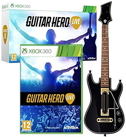 Guitar Hero Live Xbox 360 Game, Gaming Controller Guitar (Xbox 360 Les Paul Wireless)