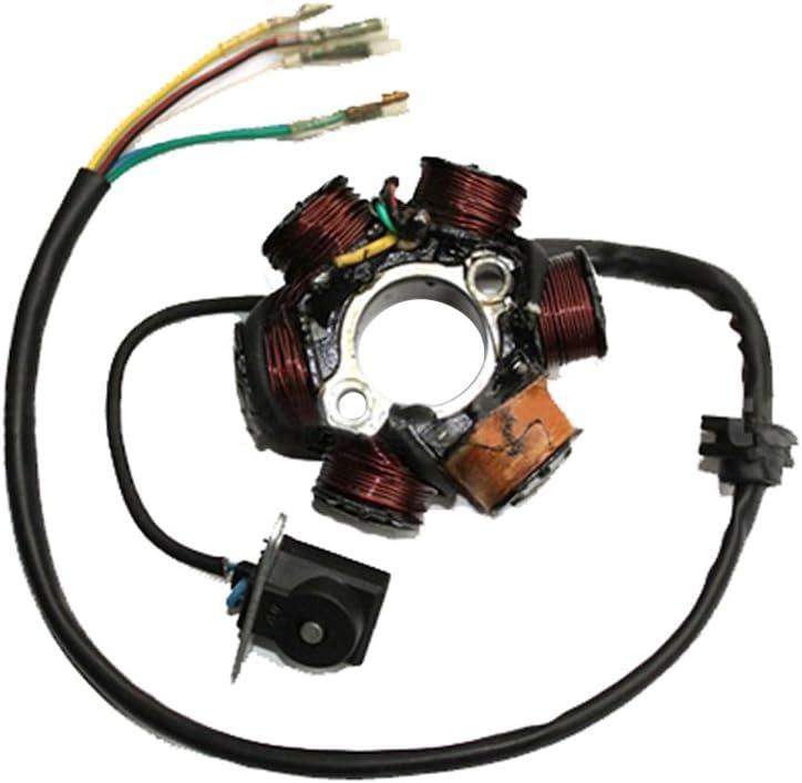 GOOFIT 6-Coil Magneto Stator Ignition Generator f/ür GY6 50cc 70cc 90cc 110cc 125cc Moped ATV Dirtbike