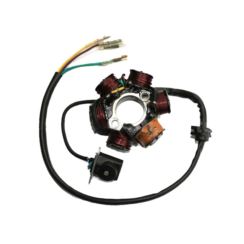 GOOFIT 6-Coil Magneto Stator Allumage G/én/érateur pour GY6 50cc 70cc 90cc 110cc 125cc Mobylette ATV Dirt Bike