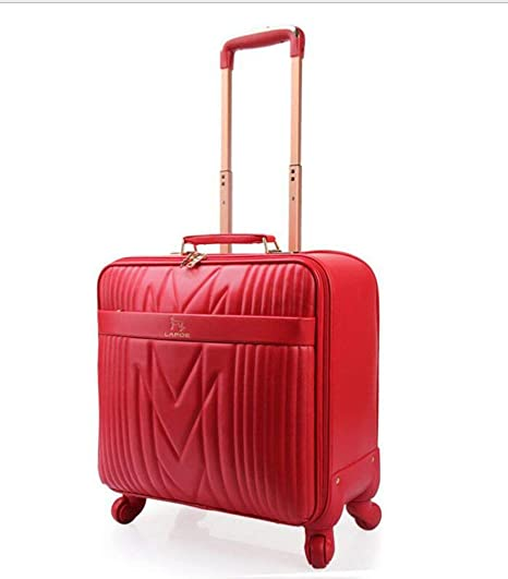 TINGITNG Equipaje Portátil De La Cabina 4 Ruedas Business Trolley Maletín De Computadora Rojo Carry On
