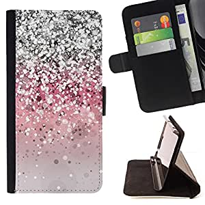 For Samsung Galaxy J1 J100 J100H Glitter Silver Pink Grey Shiny Bling Style PU Leather Case Wallet Flip Stand Flap Closure Cover