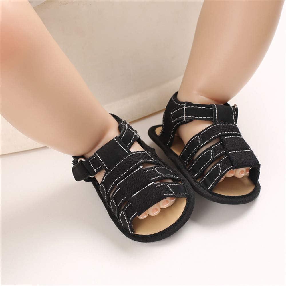 Isbasic Infant Baby Boys Girls Summer Beach Sandals Breathable Athletic Anti-Slip Soft Sole Newborn First Walker Crib Shoes