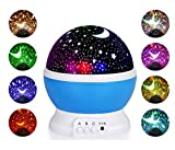 Flames Star Night Light Projector, Starry Light Rotating Moon Stars Lamp 360°USB Cable Batteries Powered, Children Bedroom-Funny gift for friends and family