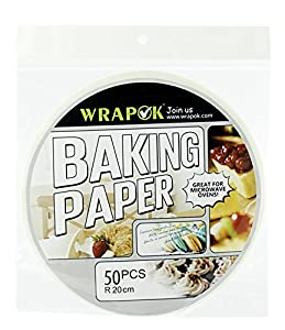 Wrapok 8 Inch Kitchen Perforated Parchment, Bamboo Steamer Liners, Not stick Steaming Papers
