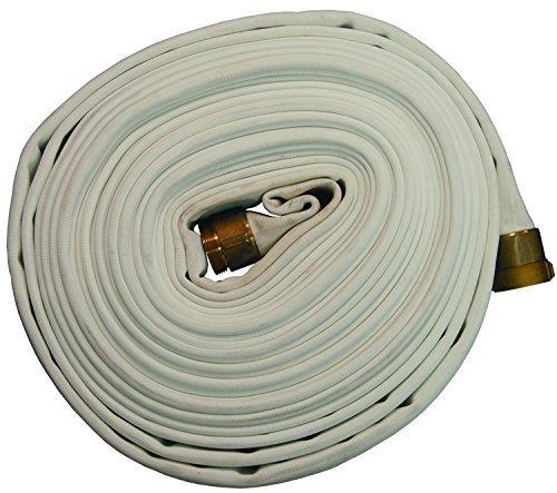 1.5 ID 100/' Length 1.5 ID Dixon D815100RAS Polyester 800# Double Jacket White Hose Coupled Rocker Lug Aluminum NPSH 360 psi 100 Length