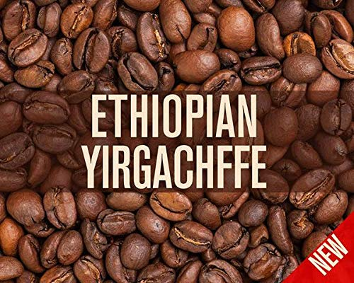2 New Bali Light - Ethiopian Yirgacheffe Misty Valley Natural Processed Coffee Beans (Light Roast (City), 2 Pounds Whole Beans)