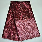 Laliva French Nigerian Laces Fabrics Tulle African Laces Fabric Sequins African French Tulle Lace JEW-05 - (Color: As Picture)