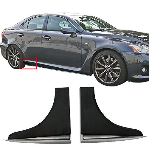 2dr Air Acura Integra - Side Skirts Fits Universal Vehicles 6.5 x 2.5 Inch | V2 Style Black PP Sideskirt Rocker Moulding Air Dam Chin Diffuser Bumper Lip Splitter by IKON MOTORSPORTS