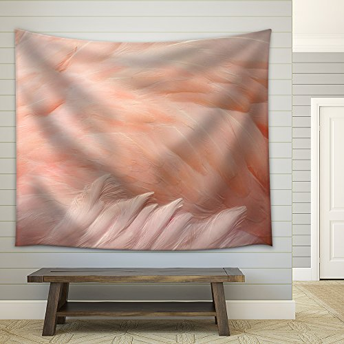 Pink Flamingo Feathers Delicate Soft for Background Fabric Wall