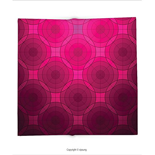 Custom printed Throw Blanket with Magenta Decor Disc Shaped Fluid Dynamics Circular Spherical Forms Whirls Rings Print Image Punch Pink Super soft and Cozy Fleece (Orange Punch Recipe Halloween)