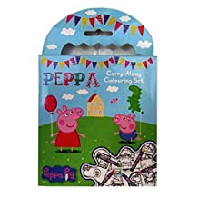 Children's Creative Carry Colouring Set - Peppa Pig - 5 Crayons & Colouring Book - 60 Sheets - Size 115mm x 125mm