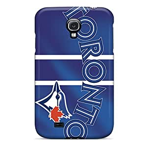 AlissaDubois Samsung Galaxy S4 Scratch Protection Mobile Cover Custom Vivid Toronto Blue Jays Skin [VVf13582AYQv]