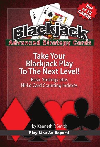 Advanced Blackjack Strategy Cards, Set Of 12