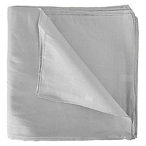 Solid 100% Cotton Unisex Bandana - 12 Pack