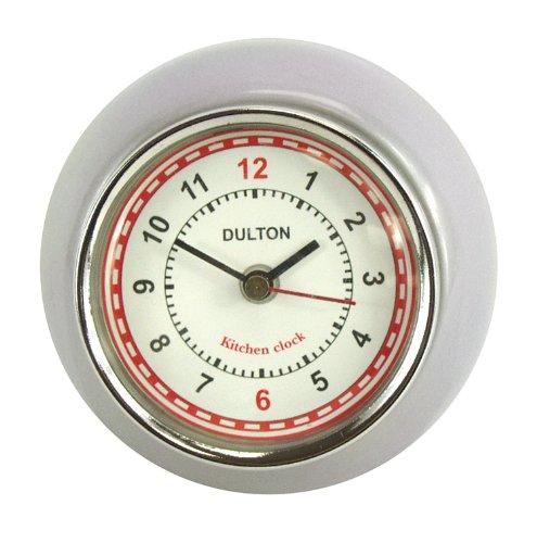 "Fox Run Brands 42602 Kitchen Clock, Small, Silver - Small Kitchen Clock 2.875"" diameter Silver colored steel exterior - clocks, bedroom-decor, bedroom - 51IsDHhUHML -"