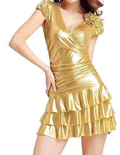 Quesera Cocktail Metallic Bodycon Clubwear product image