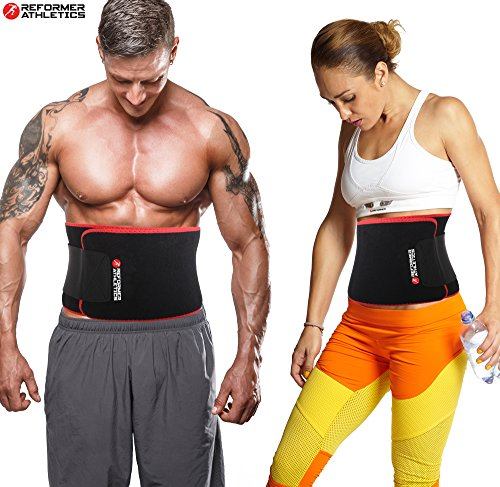 Reformer Athletics Waist Trimmer Ab Belt Trainer for Faster Weight Loss. Includes FREE Fully Adjustable Impact Resistant Smartphone Sleeve for iPhone 7 and iPhone 7 Plus
