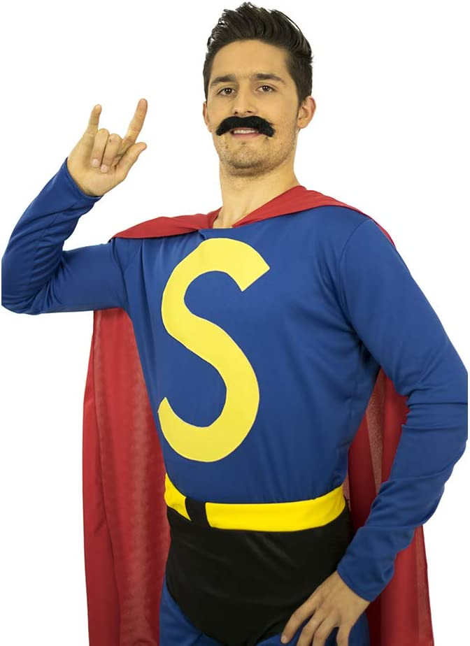 LIMIT Disfraz Super HEROE ESPAÑOL BIGOTEMAN: Amazon.es: Productos ...