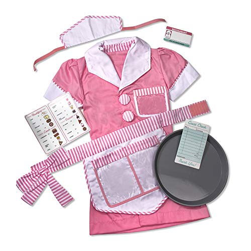 Diner Waitress Costume (Melissa & Doug Waitress Role Play, 3-6)
