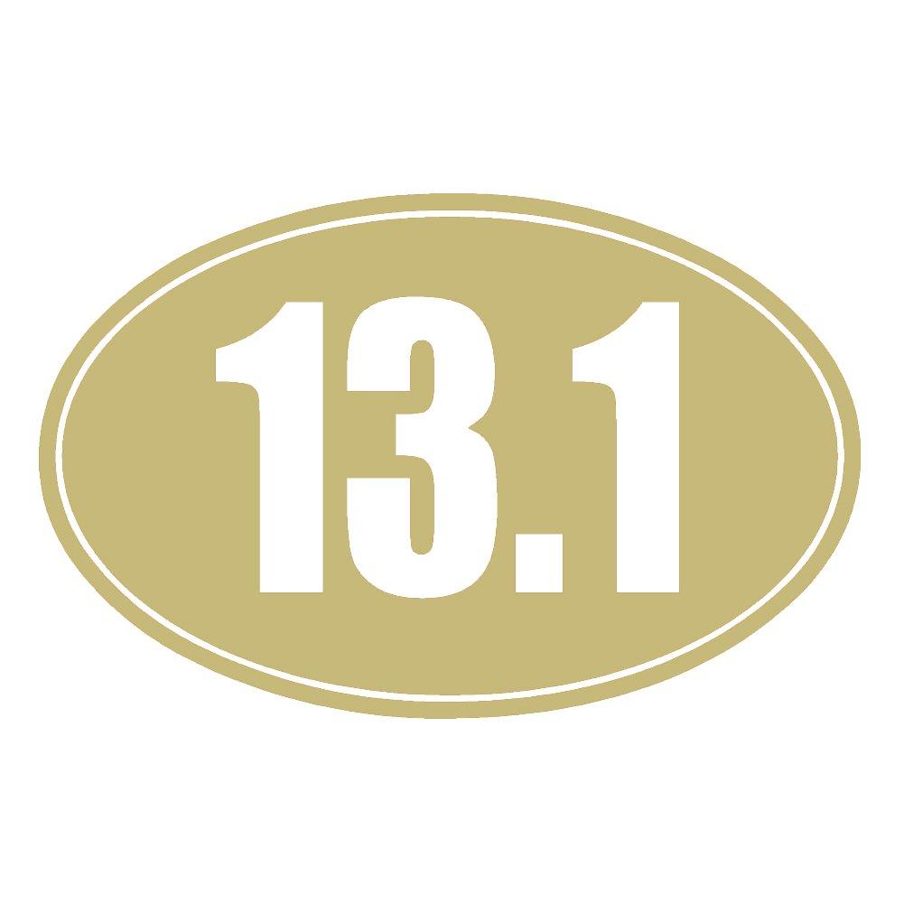 13.1 Halfマラソンソリッドオーバルv1ビニールデカールby stickerdad – サイズ: 5インチ、色:ゴールド – Windows、壁、バンパー、ノートパソコン、ロッカー、など。   B0772WSQPD