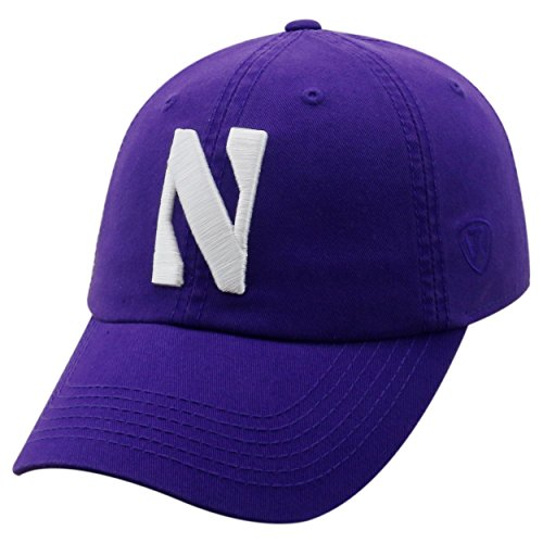 Wildcats Football Northwestern University - Top of the World NCAA-Cotton Crew-City-Adjustable Strapback-Hat Cap-Northwestern Wildcats-Purple-Adjustable