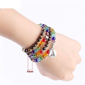 Amazon.com: Tiger Eye Yoga Bracelets 6Mm 8Mm Mala Beads ...