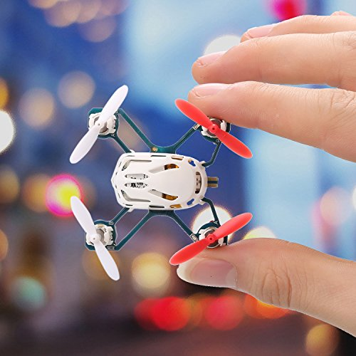 51IsEfW7m7L COOCHEER Hubsan H111 Q4 Nano 4-Channel 6 Axis Gyro RC Mini Drone Quadcopter with 2.4Ghz Radio System Mode 2 RTF for Kids (White)