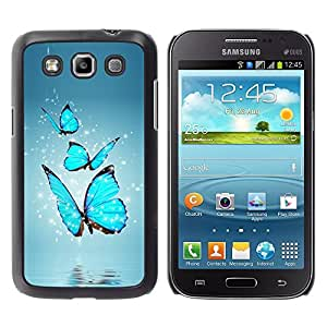 Impact Case Cover with Art Pattern Designs FOR Samsung Galaxy Win I8550 BLUE BUTTERFLIES Betty shop