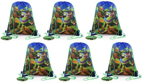 [Teenage Mutant Ninja Turtles Sling Bag X 6] (Nickelodeon Teenage Mutant Ninja Turtles Treat Bags)