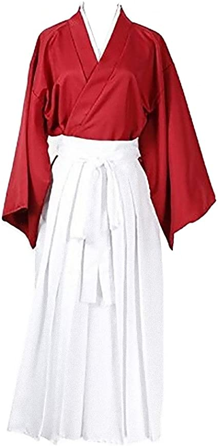 Amazon.com: Rurouni Kenshin Style Kimono Hakama Cosplay ...