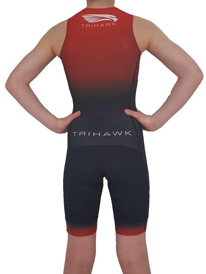 Trihawk Traje para Triatlon para niños. Tejido Repelente al ...