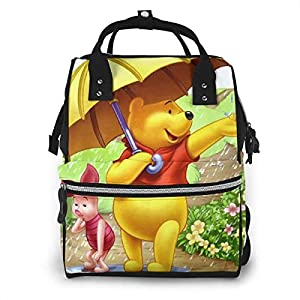 NHJYU Diaper Bag Backpack – Winnie The Pooh Multifunction Waterproof Travel Backpack Maternity Baby Nappy Changing Bags