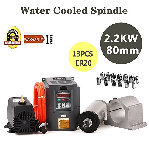 MYSWEETY-CNC-Spindle-Motor-Kits-22KW-Water-Cooled-Spindle-Motor-22KW-Inverter-80MM-Clamp-Mount-13PCS-ER20-Collet-5M-Water-Pipe-Water-Pump-for-CNC-Router